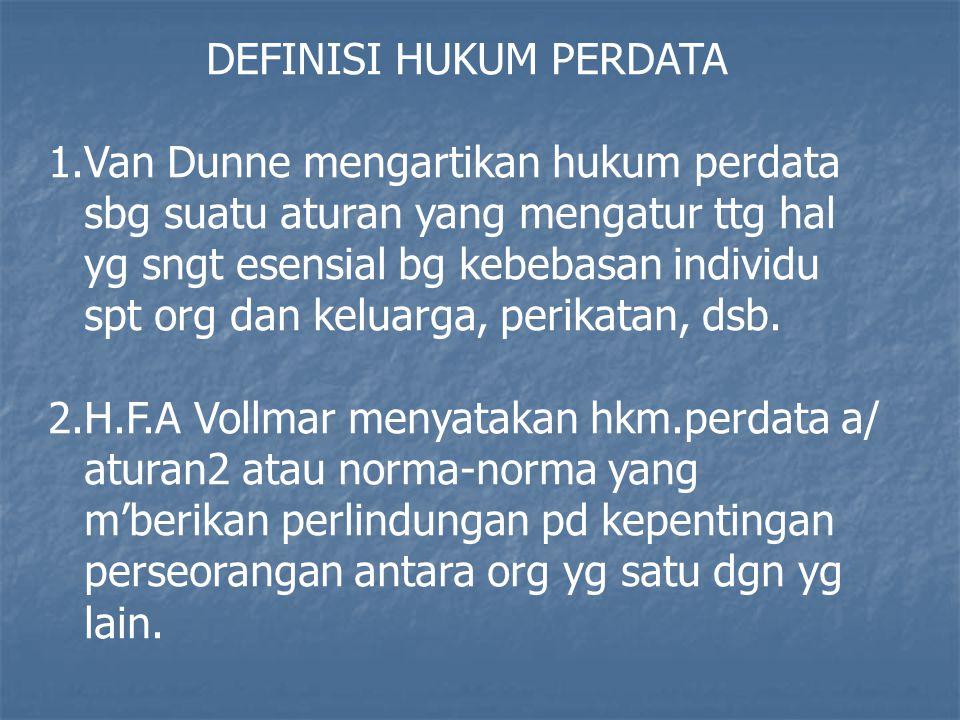 DEFINISI HUKUM PERDATA