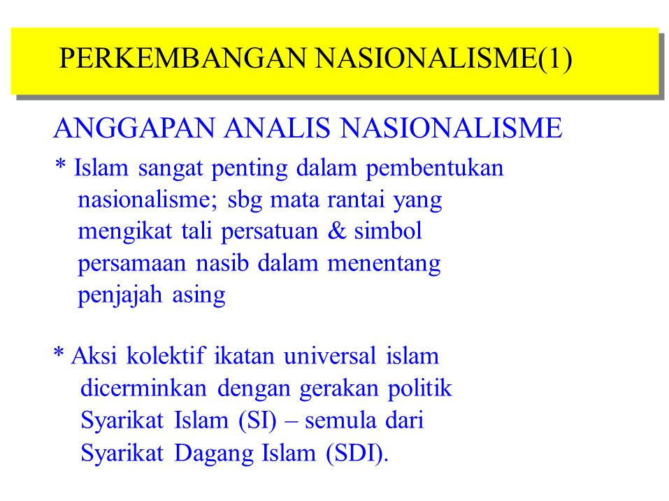 ANGGAPAN ANALIS NASIONALISME