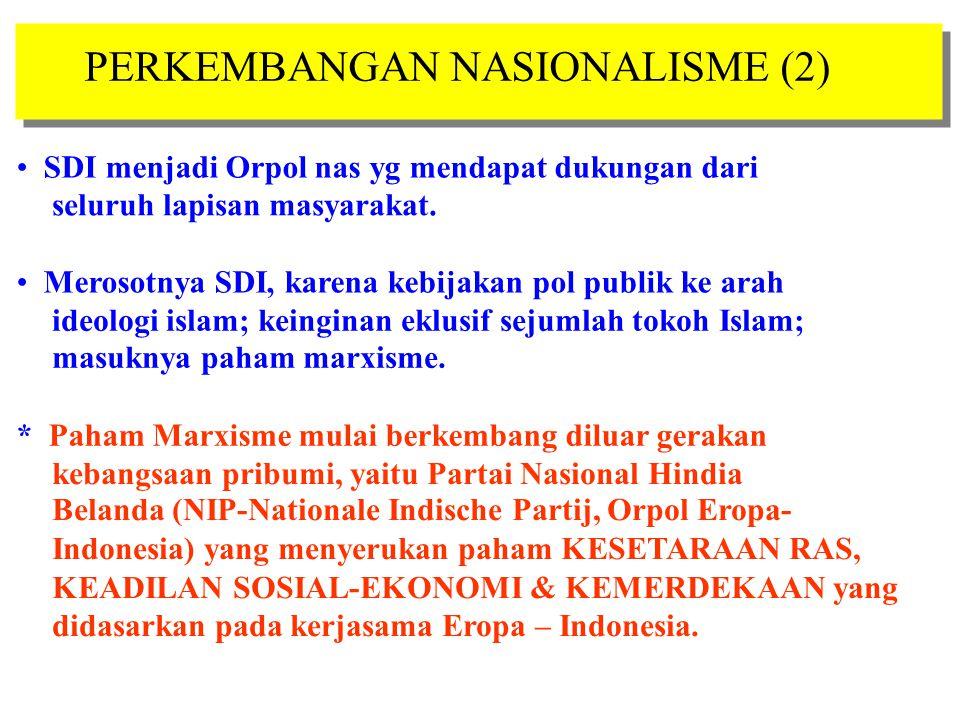PERKEMBANGAN NASIONALISME (2)