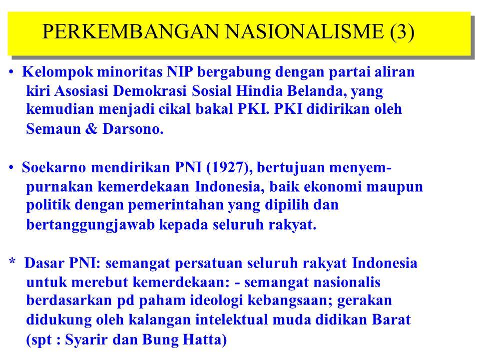 PERKEMBANGAN NASIONALISME (3)