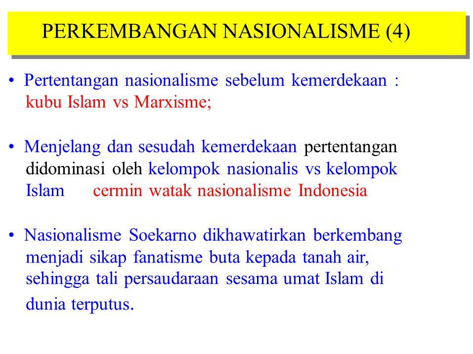 PERKEMBANGAN NASIONALISME (4)