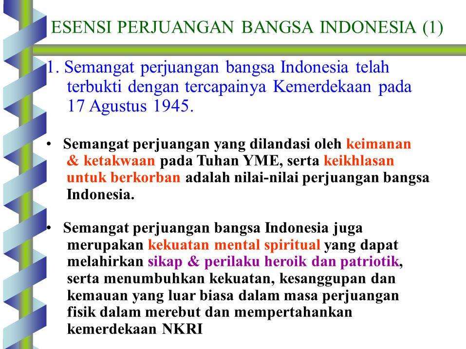 ESENSI PERJUANGAN BANGSA INDONESIA (1)