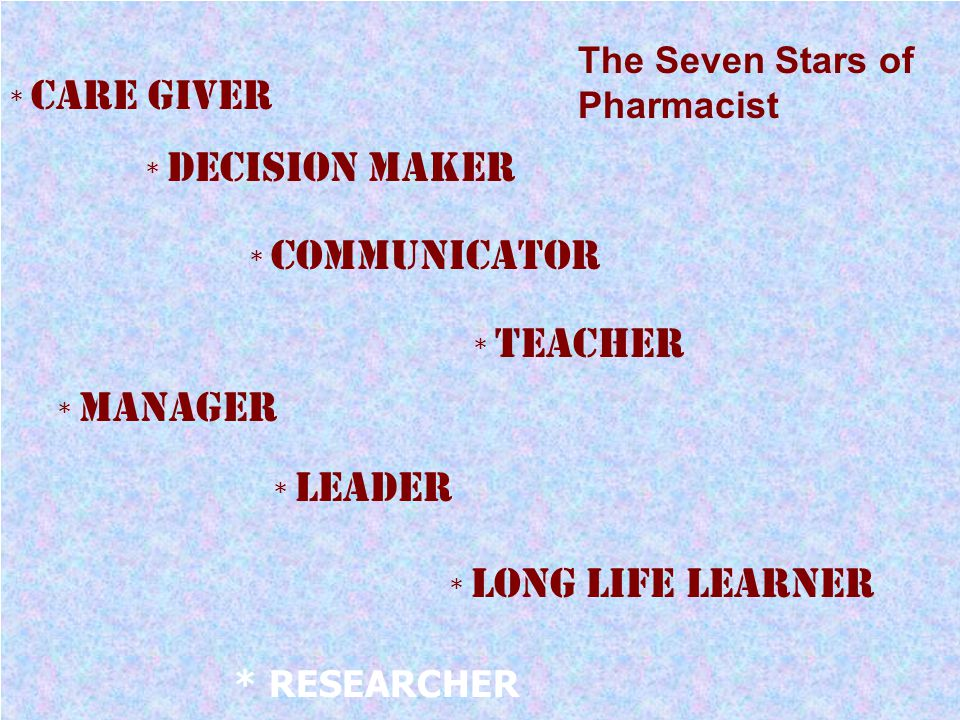 The Seven Stars of Pharmacist