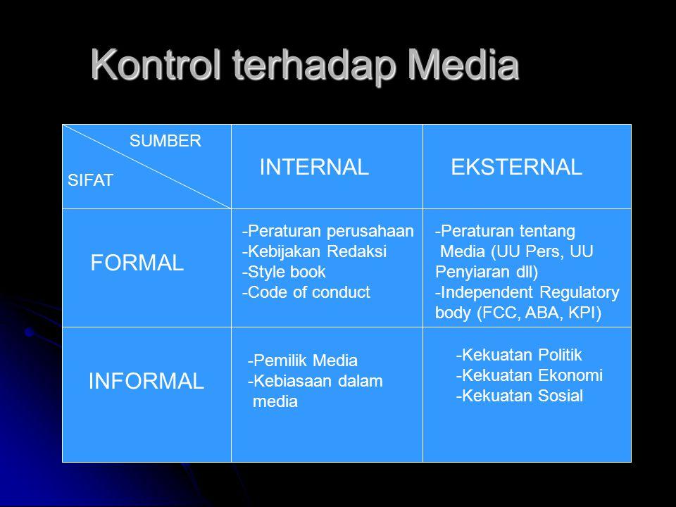 Kontrol terhadap Media