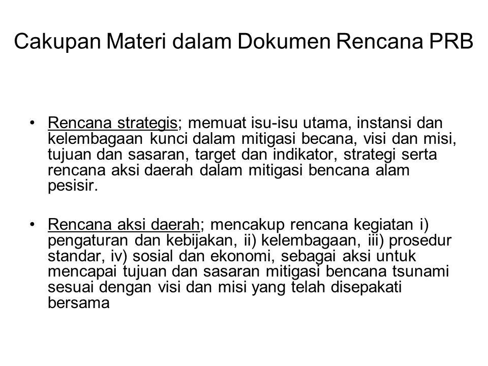 Cakupan Materi dalam Dokumen Rencana PRB