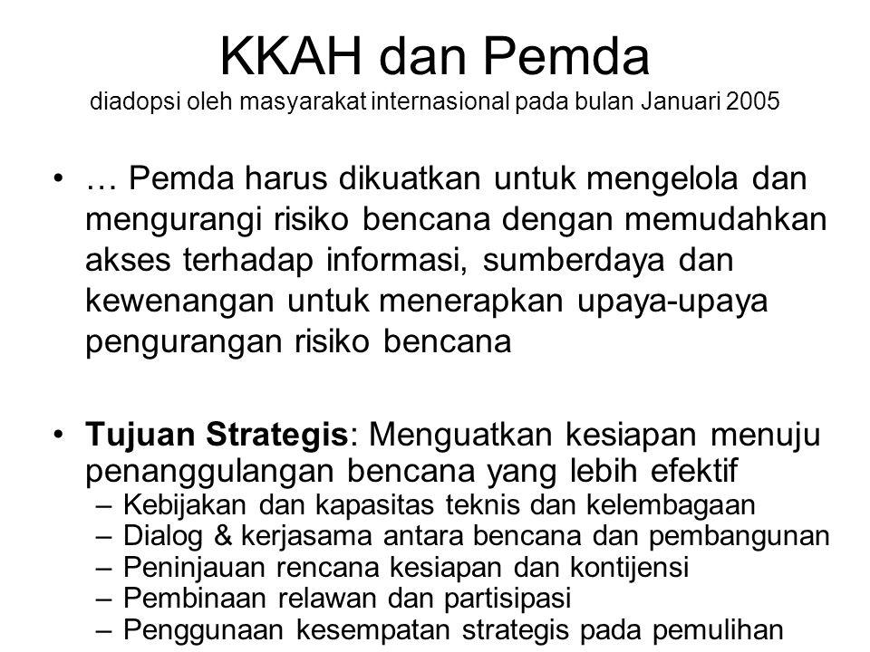 KKAH dan Pemda diadopsi oleh masyarakat internasional pada bulan Januari 2005
