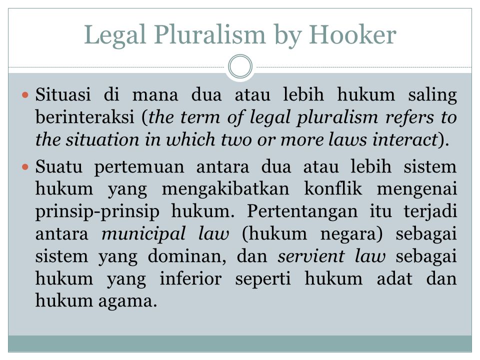 Legal Pluralism by Hooker