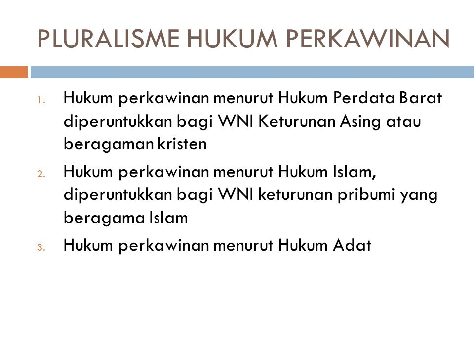 PLURALISME HUKUM PERKAWINAN