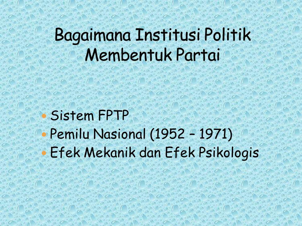 Bagaimana Institusi Politik Membentuk Partai