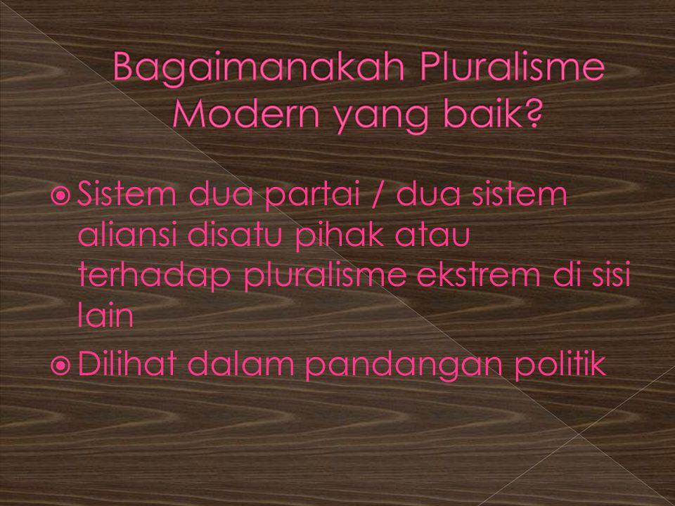 Bagaimanakah Pluralisme Modern yang baik