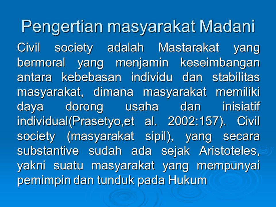 Pengertian masyarakat Madani