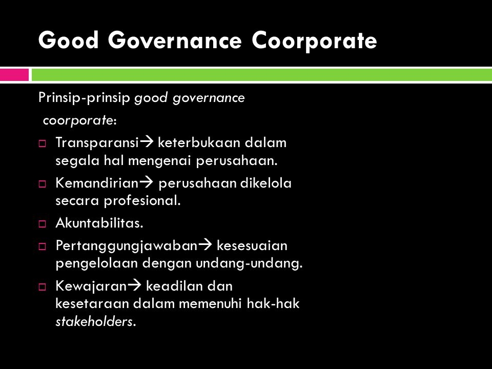 Good Governance Coorporate