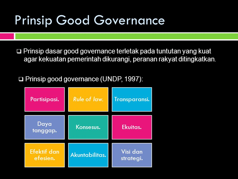 Prinsip Good Governance