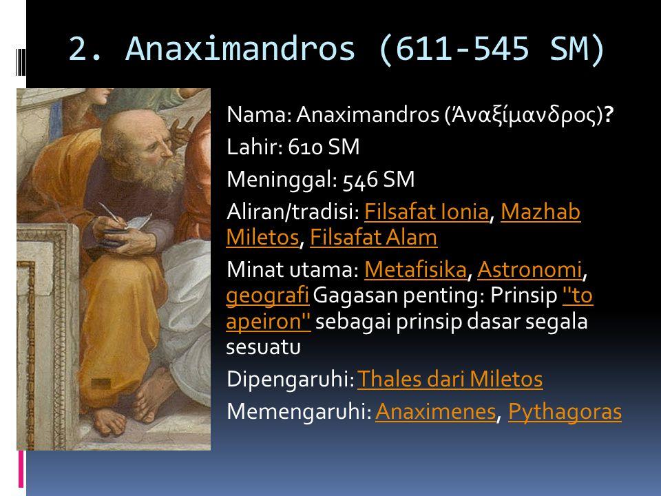 2. Anaximandros (611-545 SM)