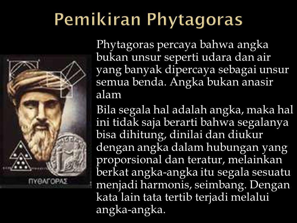 Pemikiran Phytagoras
