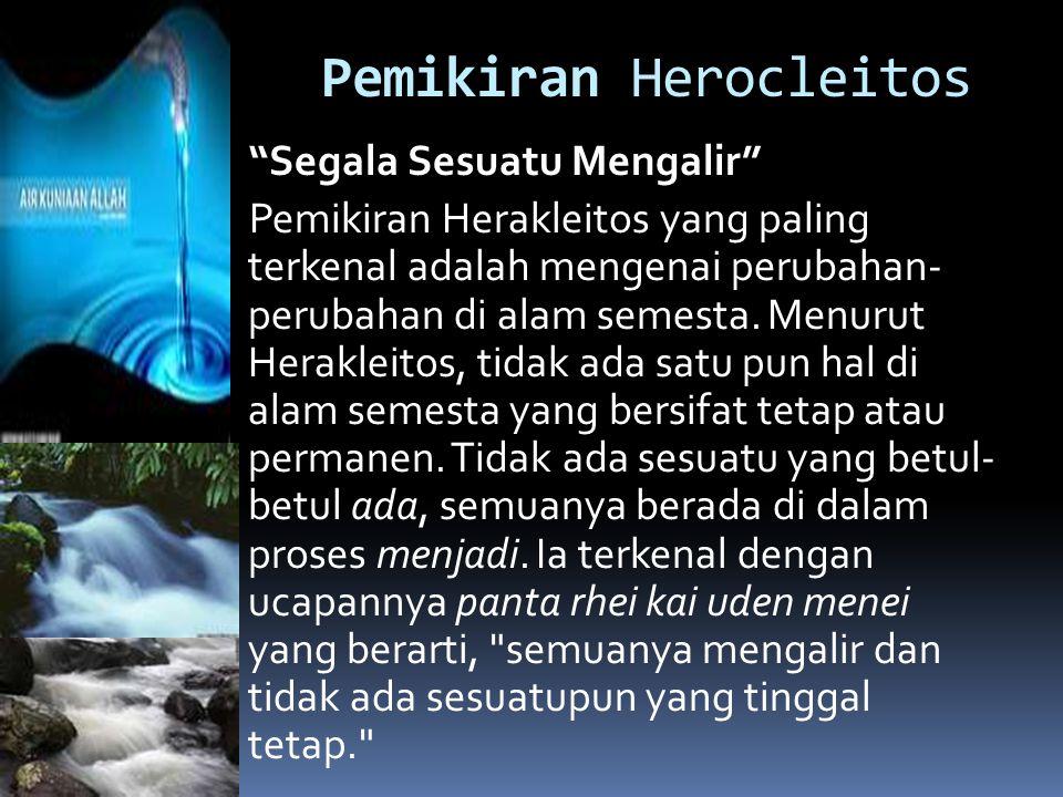 Pemikiran Herocleitos