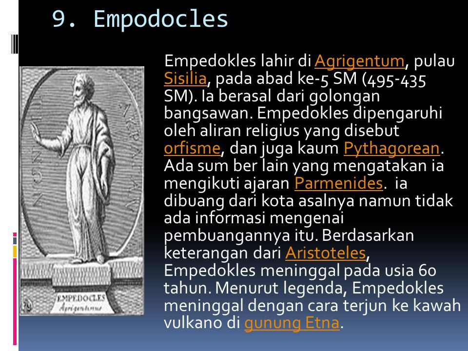 9. Empodocles