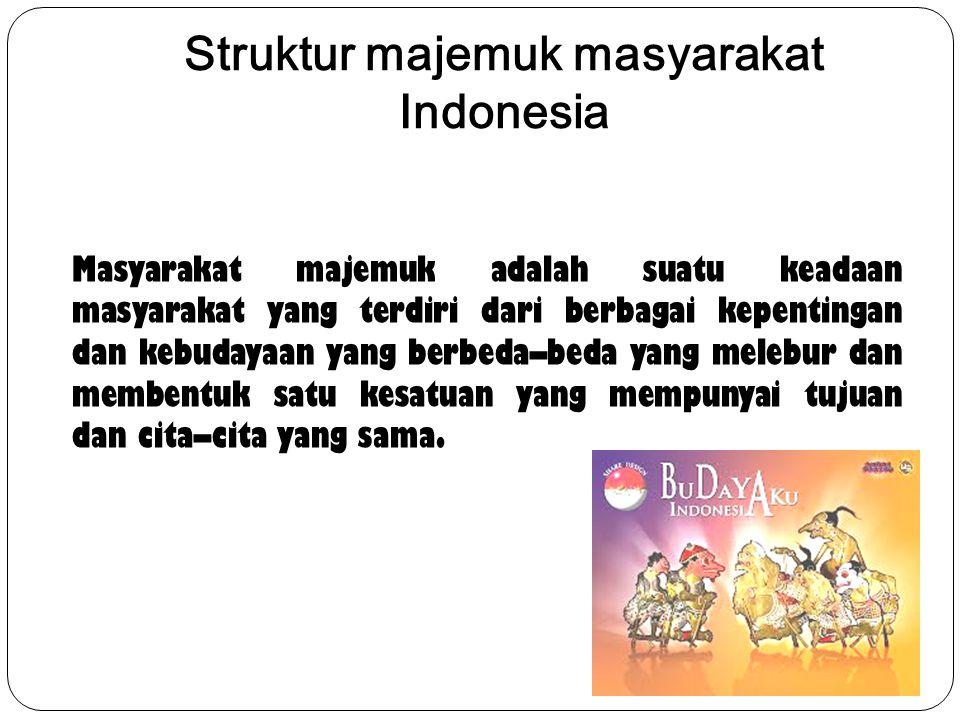 Struktur majemuk masyarakat Indonesia