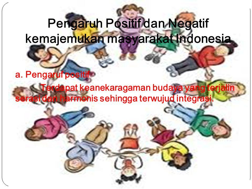 Pengaruh Positif dan Negatif kemajemukan masyarakat Indonesia