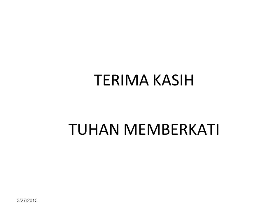 TERIMA KASIH TUHAN MEMBERKATI 4/8/2017