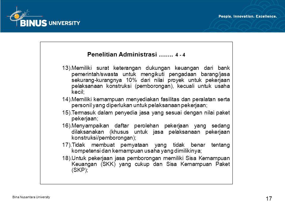 Penelitian Administrasi ……. 4 - 4