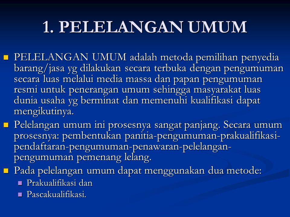 1. PELELANGAN UMUM