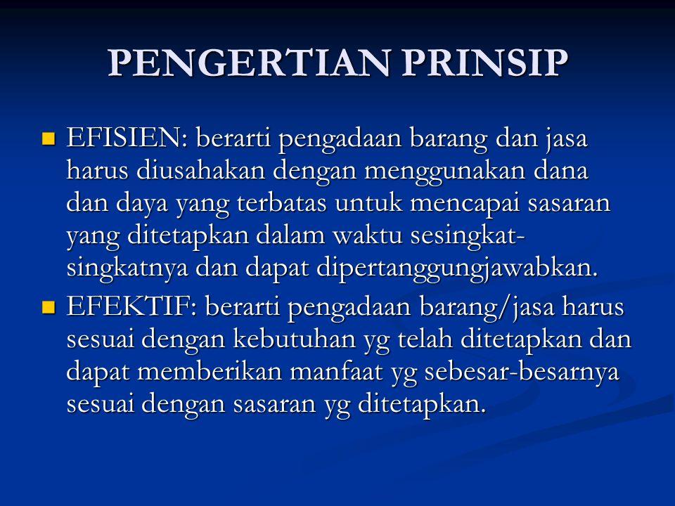 PENGERTIAN PRINSIP