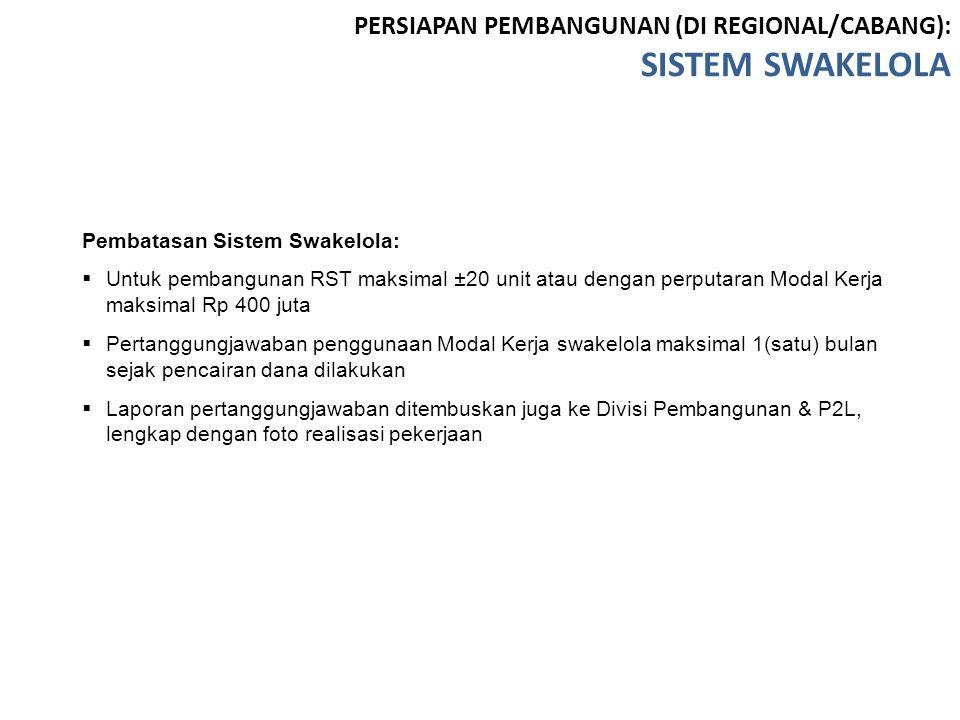 SISTEM SWAKELOLA PERSIAPAN PEMBANGUNAN (DI REGIONAL/CABANG):