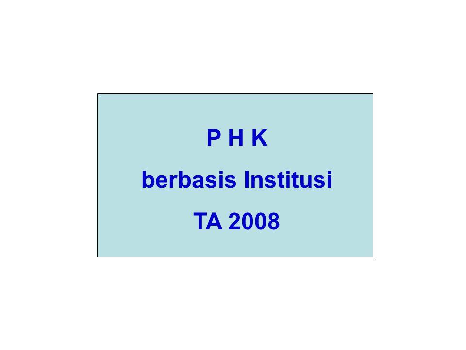 P H K berbasis Institusi TA 2008