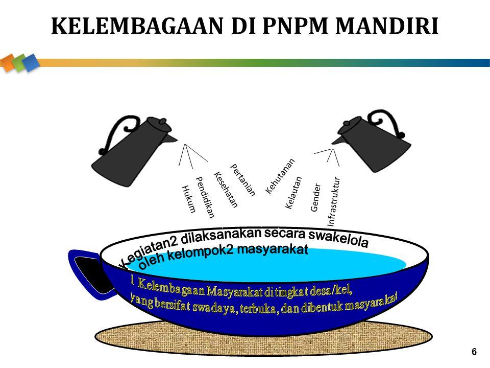 KELEMBAGAAN DI PNPM MANDIRI