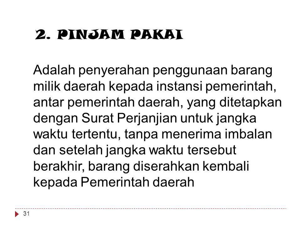 2. PINJAM PAKAI