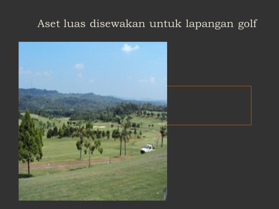 Aset luas disewakan untuk lapangan golf