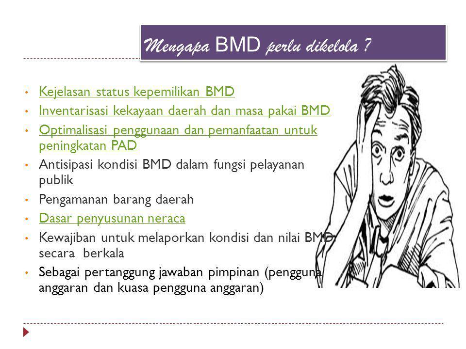 Mengapa BMD perlu dikelola