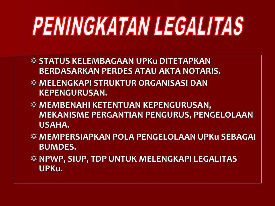 PENINGKATAN LEGALITAS