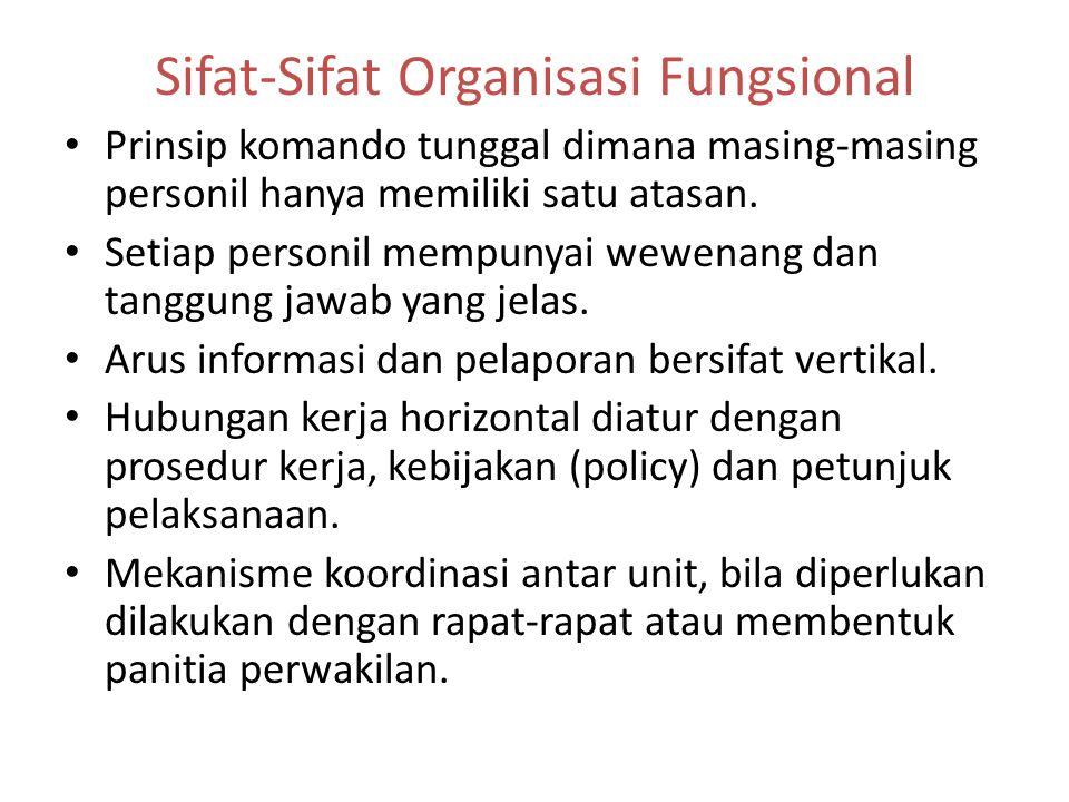 Sifat-Sifat Organisasi Fungsional
