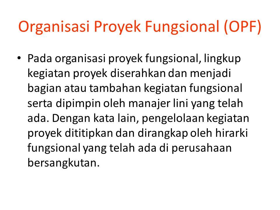 Organisasi Proyek Fungsional (OPF)