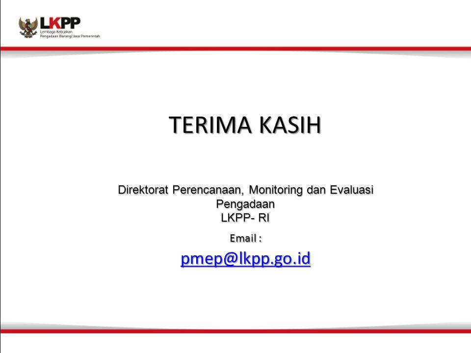 Direktorat Perencanaan, Monitoring dan Evaluasi Pengadaan