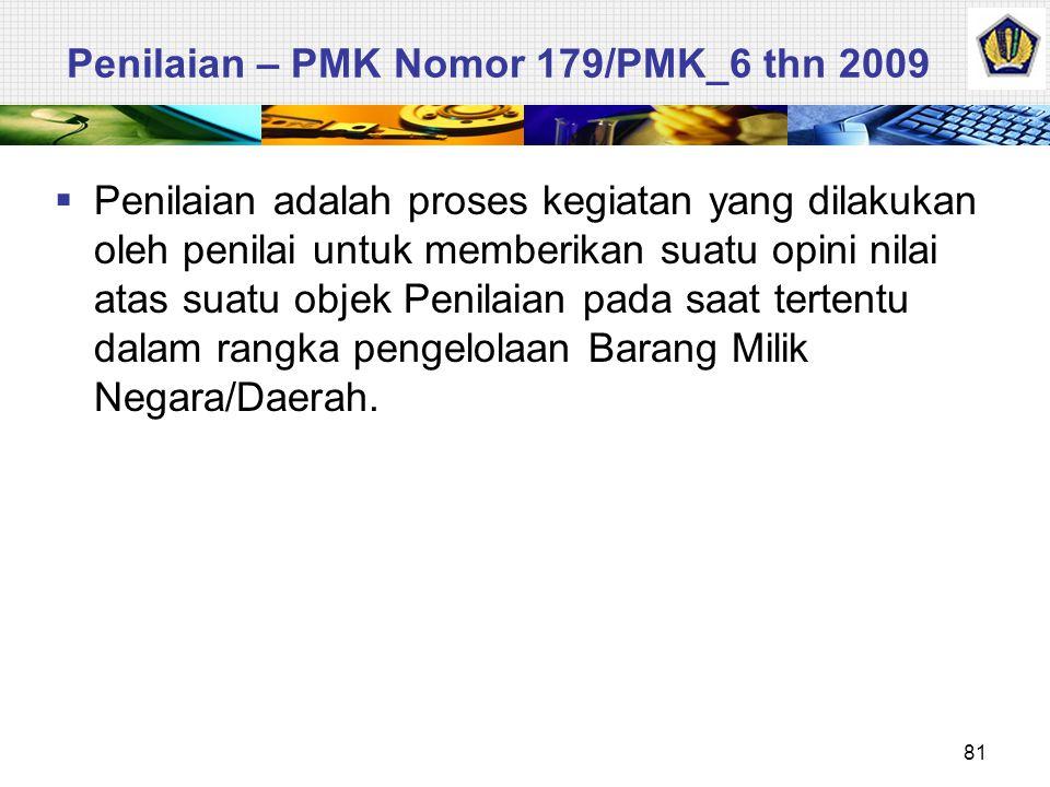 Penilaian – PMK Nomor 179/PMK_6 thn 2009