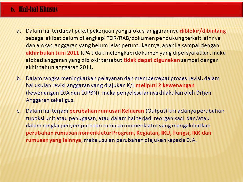 6. Hal-hal Khusus