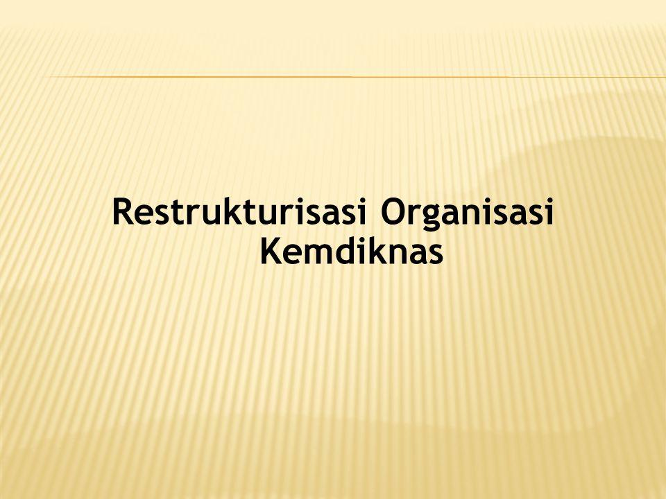 Restrukturisasi Organisasi Kemdiknas