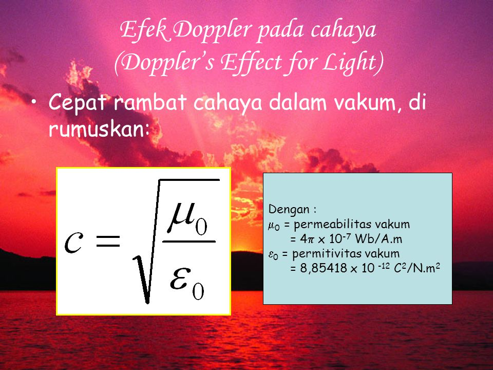 Efek Doppler pada cahaya (Doppler's Effect for Light)