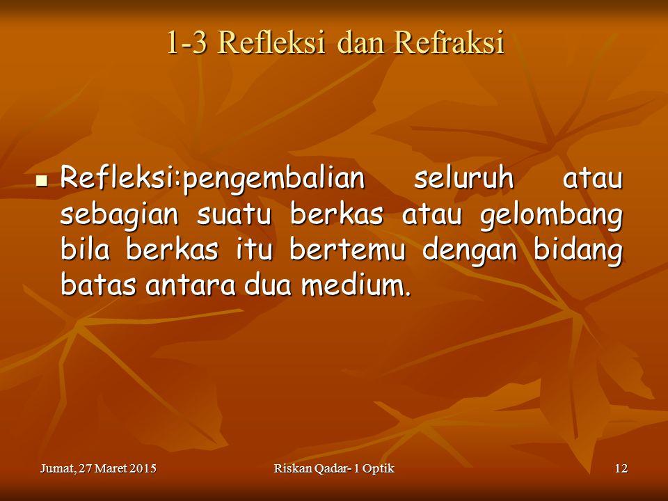 1-3 Refleksi dan Refraksi