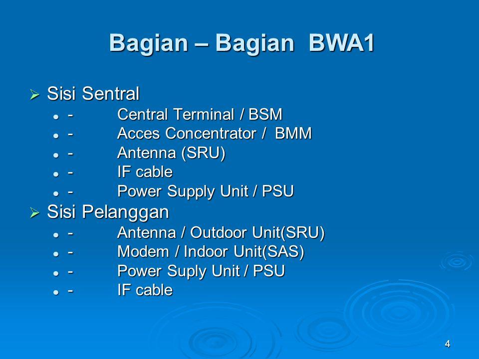 Bagian – Bagian BWA1 Sisi Sentral Sisi Pelanggan