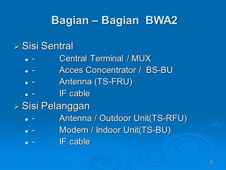 Bagian – Bagian BWA2 Sisi Sentral Sisi Pelanggan