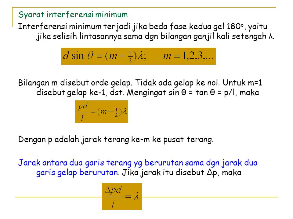 Syarat interferensi minimum