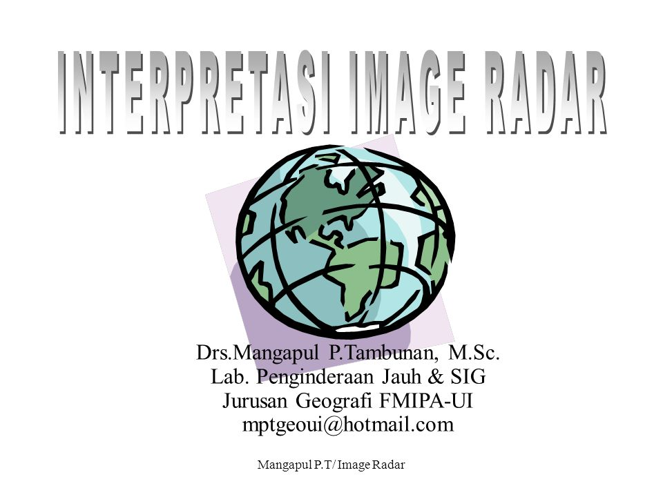 INTERPRETASI IMAGE RADAR