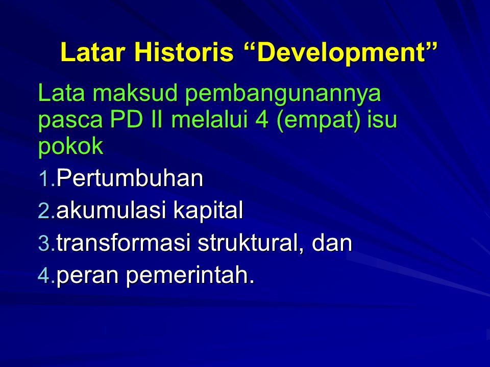 Latar Historis Development