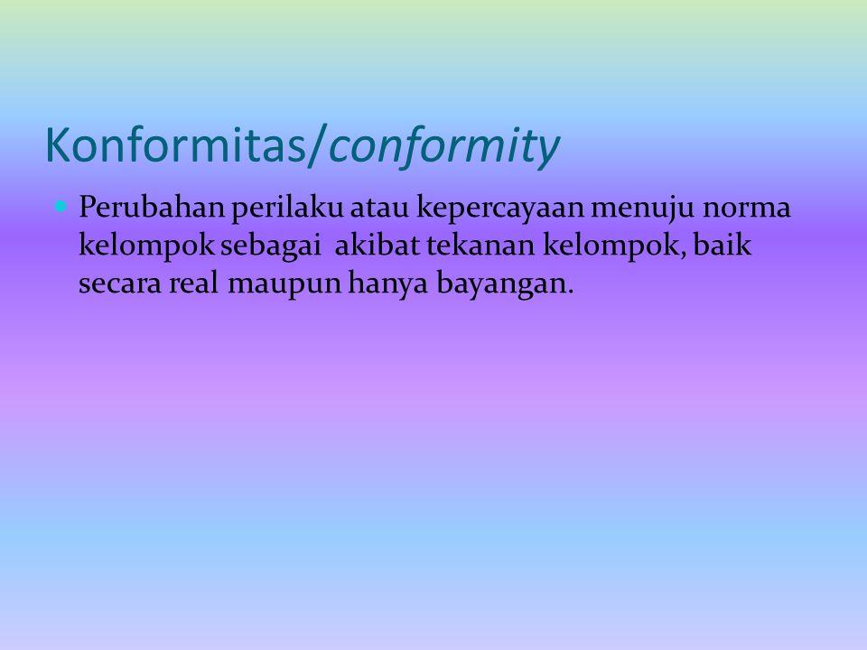 Konformitas/conformity