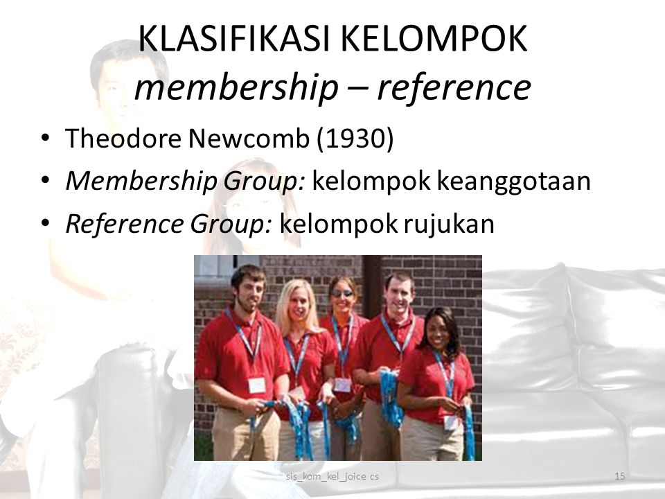 KLASIFIKASI KELOMPOK membership – reference