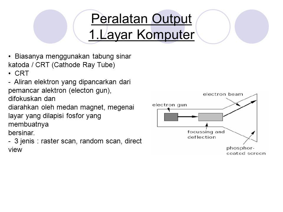 Peralatan Output 1.Layar Komputer